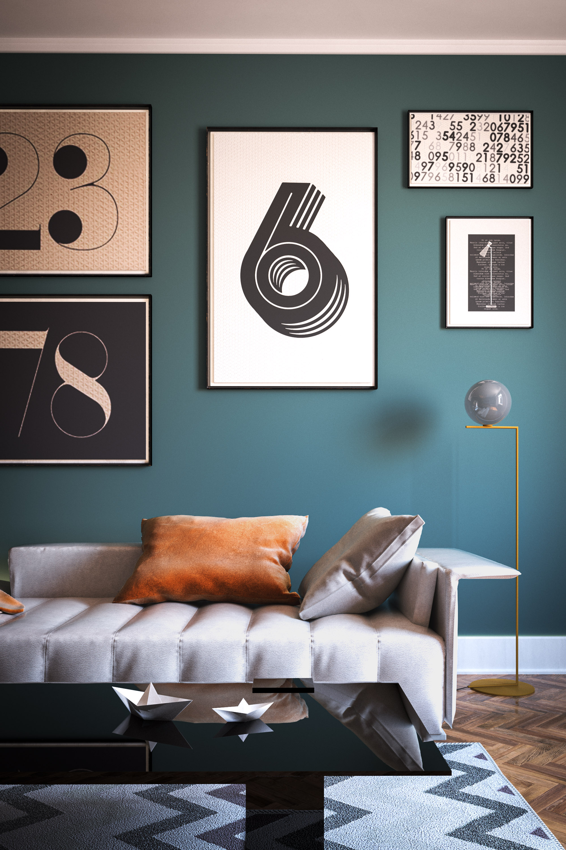 Interior Wall design green paint